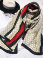 Silk-Blend Geometric Fashion Scarves
