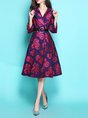 Daily Floral Elegant Trench Coat