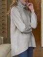 Simple & Basic Turtleneck Solid Sweater