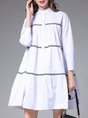 Ruched Daily Casual Midi Dress