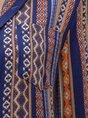 Women Shirt Collar Ethnic Button Down Midi Dress
