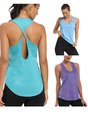 Women Yoga U-Neck Sleeveless Casual Sports Top