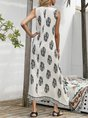 V NeckSwing Beach Floral Maxi Dress