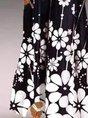 V Neck Floral-Print Sleeveless Dress