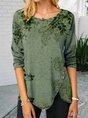 Green Vintage Floral Top
