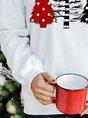 Christmas Snowman Long Sleeve Casual Sweatshirt