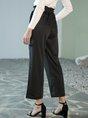 Black Plain Pockets Pants