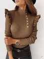 Long Sleeve Casual Vintage Pullover