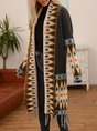 Black Halter Tribal Knitted Casual Sweater